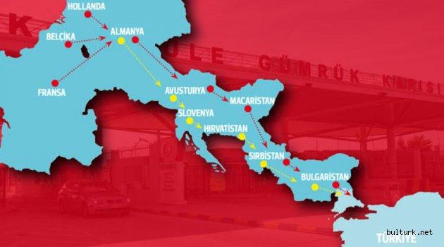 Avrupa'dan Türkiye'ye iki rota