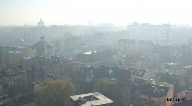 Bulgaristan'da hava kirliliğine farkındalık eylemi