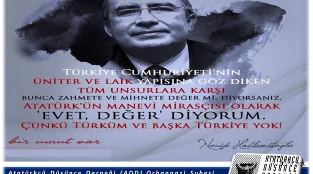 Hablemitoğlu'nu ölümünün 18.yıl dönümünde saygıyla anarken