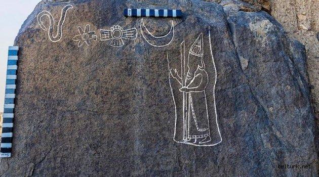 Suudi Arabistan'da Babil Kralı Nabonidus Petroglifi Bulundu