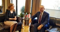 Çavuşoğlu ile Zaharieva birlikte basın toplantısı düzenlendi
