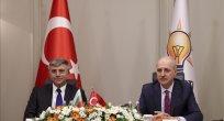 AK Parti Genel Başkanvekili Kurtulmuş, Bulgaristan Hak ve Özgürlükler Partisi Genel Başkanı Karadayı'yı kabul etti